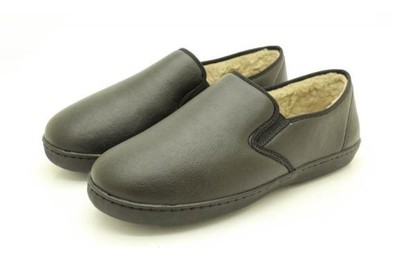 Pantufa Katurê Unissex Sapato Forrado Em Lã 603 - Preto