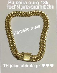 Pulseira De Ouro18k 11,54 Gramas