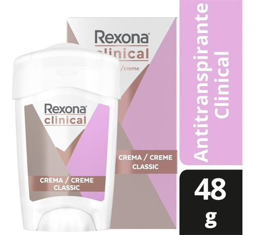Desodorante Rexona Clinical Women Antitranspirante Creme 48g