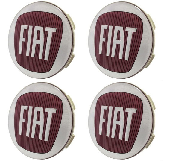 Jogo Calotinha Centro Roda Scorro Fiat Linea Absolute 55mm