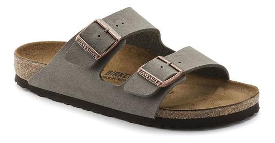Birkenstock Sandália Arizona Nb Regular Cinza 12x