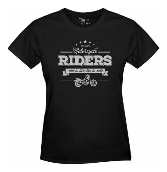Camiseta Bobber Motocicleta Estampa Prata - Feminina