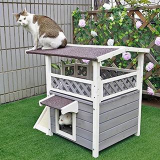 Petsfit 2 Pisos Al Aire Libre A Prueba De Intemperie Gato Ca