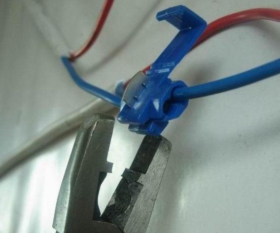 100 Pçs Terminais Derivação Azul Emenda Rápida P/cabos Fios