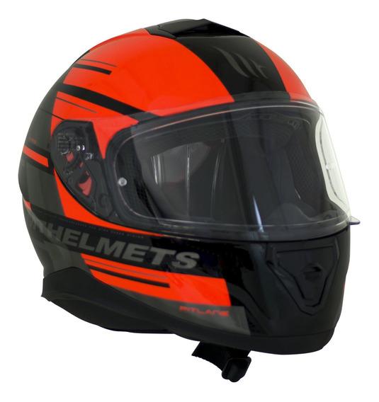 Capacete Mt Helmets Ff102sv Thunder 3 Sv P Ca G Preto Verm