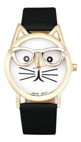 Relógio Feminino Moda Gato Promoção Barato Bonito Bom Vr65
