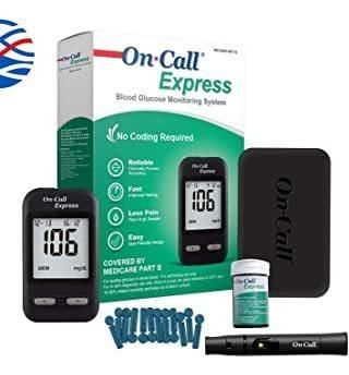 Kit De Prueba De Diabetes On Call Express: Medidor De Glucos
