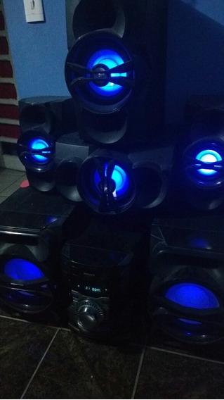 Aparelho Fwt9200 Hi-fi Sistem 1800 Rms 6 Caixas Potencia Boa