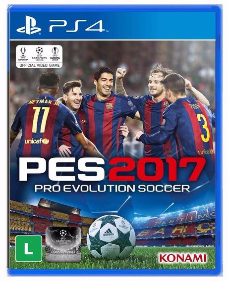 Pro Evolution 2017 Pes17 Português Br Times Ps4 Mídia Física
