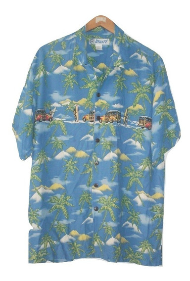 Camisa Hawaiiana Seminueva Manga Corta Vintage Talla G $390a