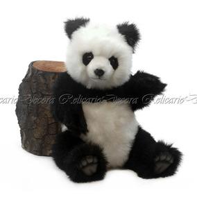 Urso Panda Articulado Pelúcia Design Realista Impecavel