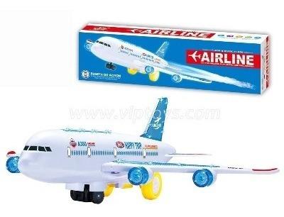 Avião A380 Bate-volta 30 Cm Musical C/ Luzes Brinquedo