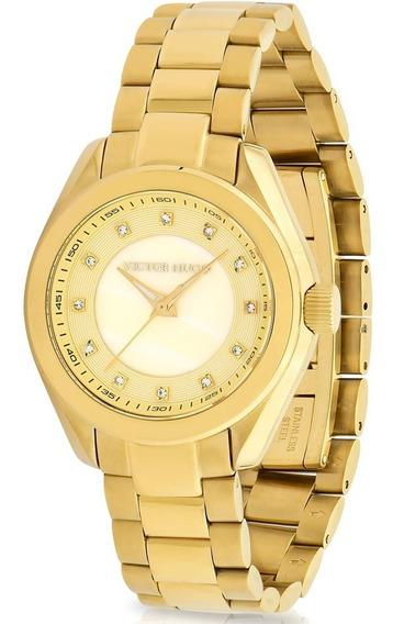 Relógio Victor Hugo Luxo Feminino - Vh10145lsg/54m