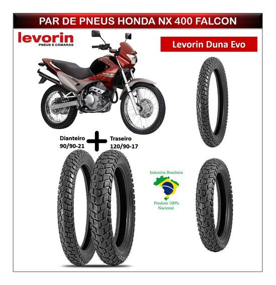 Pneu Dianteiro Honda Nx 400 Falcon + Pneu Traseiro Duna