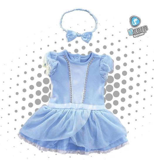Disfraz Pañalero Bebe Princesa Cenicienta Vestido Niña
