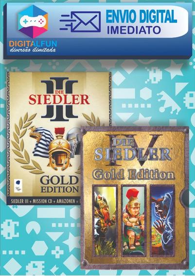 The Settlers 3 + The Settlers4 (+expansões) - Mídia Digital