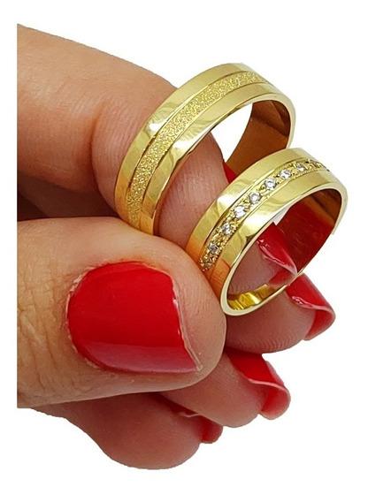 Alianças De Casamento 10 Gramas Ouro 18kl 750 Á Vista