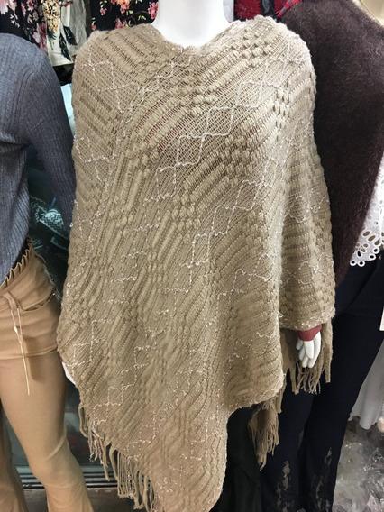 Blusa Feminina Poncho Tricot Tricô Frio Inverno 2018 Qualida