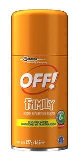 Off Family Active Repelente De Insectos Aerosol X 165 Ml