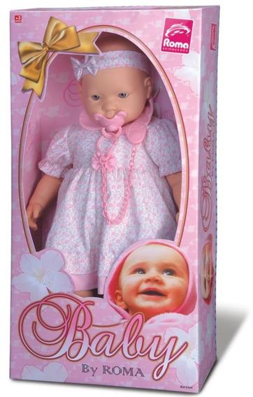 Muñeca Bebe Tiara + Chupete Alto 50cm Roma Brinquedos