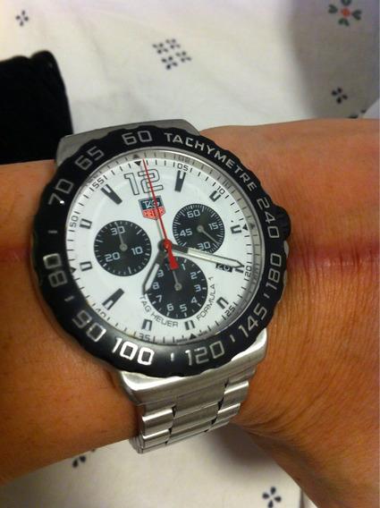 Relógio Tag Heuer Fórmula 1 Ano 2017 Pulseira Em Aço Branco