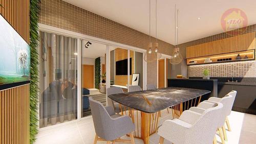 Apartamento Duplex À Venda, 123 M² Por R$ 747.415,00 - Canto Do Forte - Praia Grande/sp - Ad0031