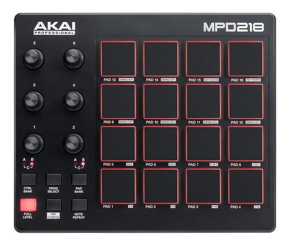 Akai Mpd 218 Controlador Midi Dj Pad Usb - Garantia.