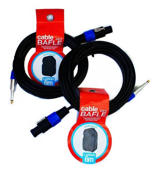 Par De Cables Profesionales P/audio De 6 Mts Plug A Speakon!