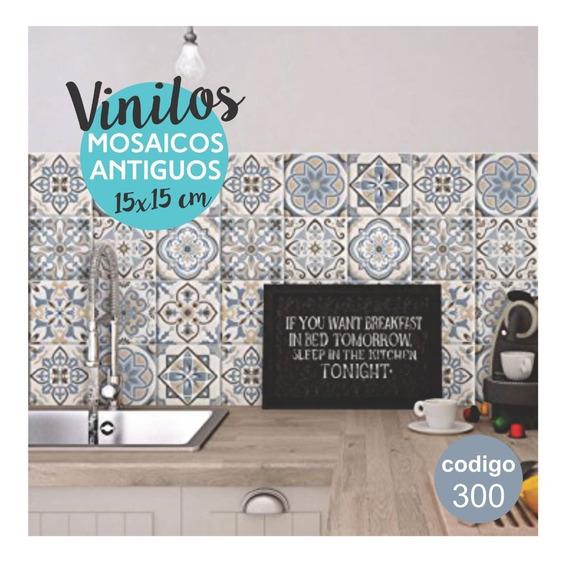 Vinilos Para Azulejos, Autoadhesivos De Mosaicos Antiguos X1