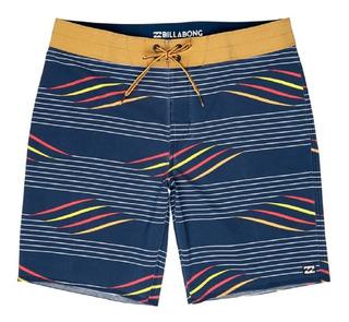 Short De Baño Billabong Sundays X Stripe Hombre Malla