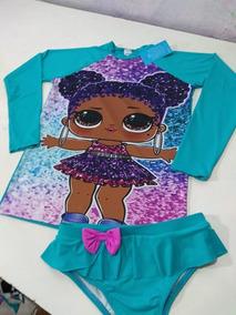 Blusa Proteção Solar Infantil Moda Praia Piscina Fpu50+ Lol