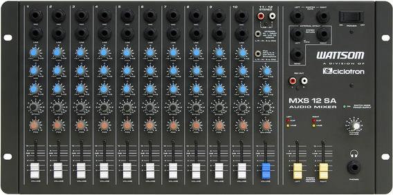 Ciclotron Mesa De Som 12 Canais Mxs-12-sa Audio Mixer