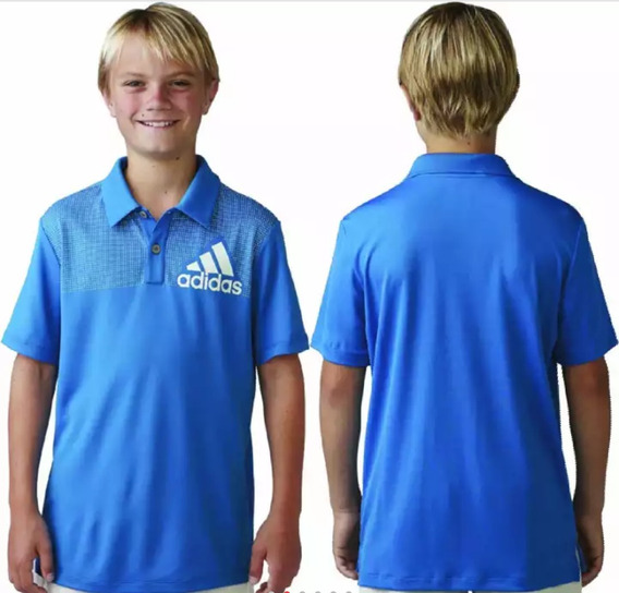 Playera adidas Junior Big Logo Con Lunares Azul Shock Ae6950