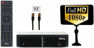 Exuby - Conversor Digital Para Tv Con Antena Y Cable Rf P