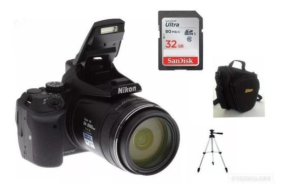 Câmera Nikon Coolpix P900+32gb+bols+nota