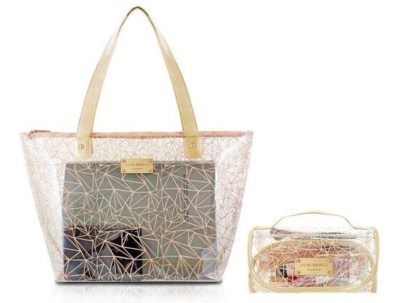 Bolsa Shopper + Necessaire Rocambole Crystal - Jacki Design