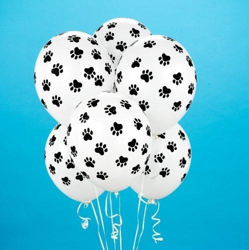 Paw Print Balloons 6 Cuentas Niño
