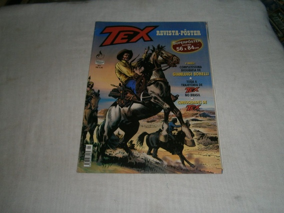 Tex Revista Poster Gigante - Biografia Bonelli Tex No Brasil