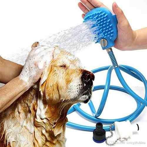 Mangueira Ducha Banho Em Cachorro Massageadora Com Luvas