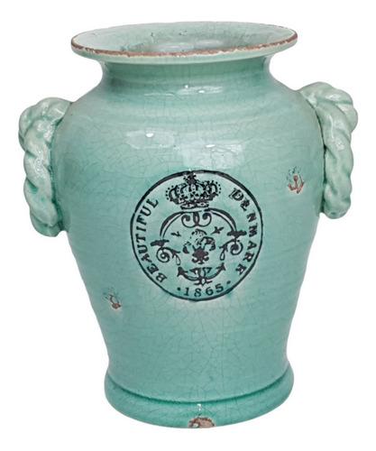 Vaso Tupipa Ceramica M Verde | 16 Larg X 21 Alt X 16 Prof