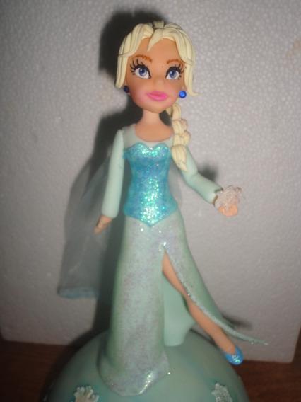 Elsa FrozenAdorno De Torta/alcancia En Porcelana Fría