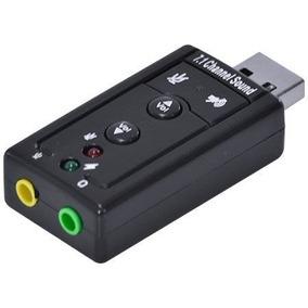 Adaptador / Placa Som 7.1 - Usb 2.0 - Estereo + Microfone P2