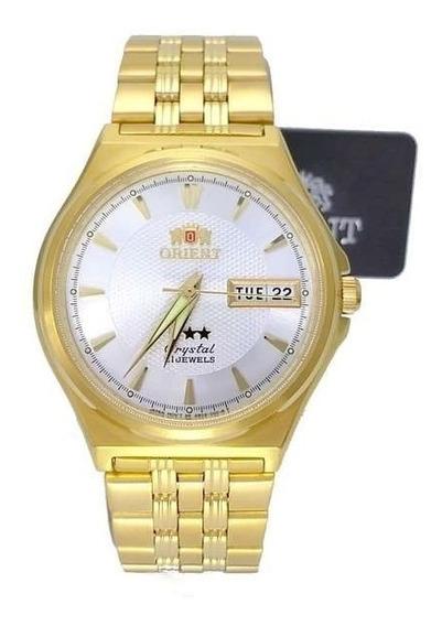 Fab02001w9 Relogio Automático Orient 21jewels 36mm Dourado