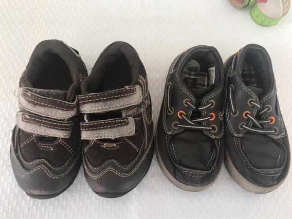 2 X 1 Zapatos Mocasines Marrones Talle 22 Carters Con Abrojo