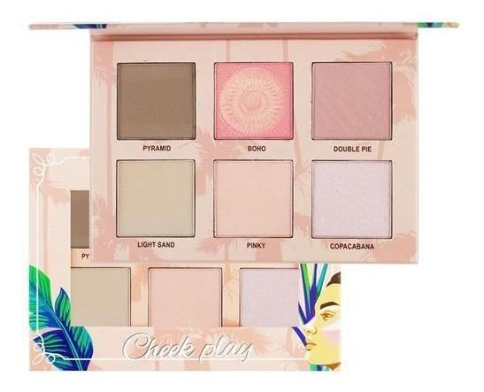 Paleta Hightlight Contour Blush Cheek Play Ruby Rose Hb5702