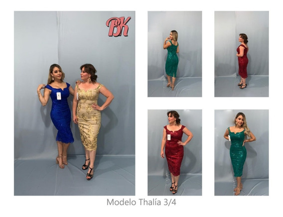 Vestido De Fiesta Modelo Thalia 3/4