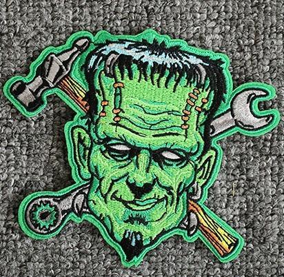 Patch Bordado Colete Jaqueta Motociclista Frankenstein