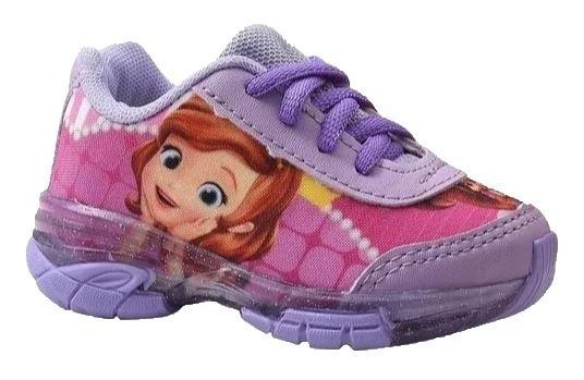 Tenis Infantil Princesa Sofia Frozen Com Luz Leds