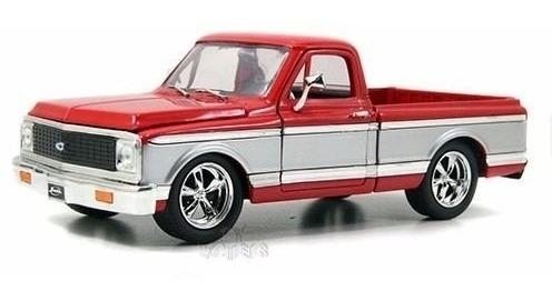 Miniatura Chevy Cheyenne 1972 Vermelho Jada Toys 1/24