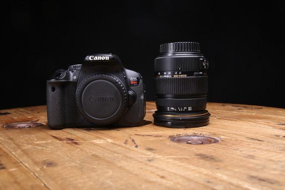Camera Fotografica Canon T4i Lente Sigma 17-50mm F/2.8 Ex Dc